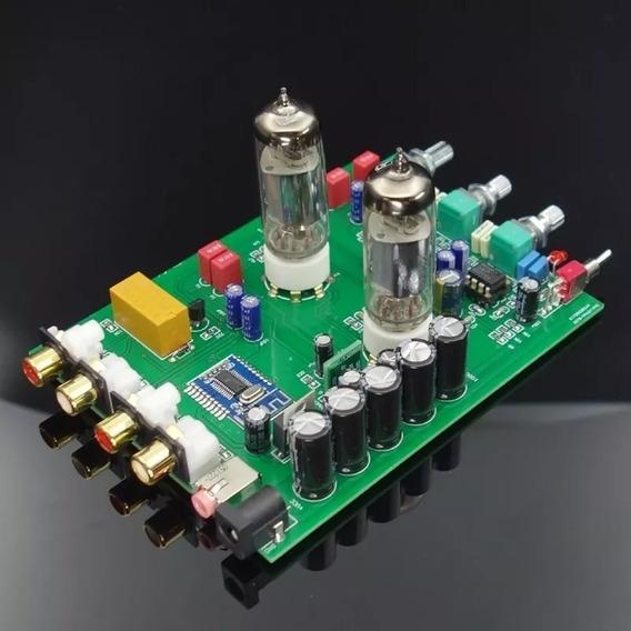 Pre Amplificador Valvulado Stereo Hifi C/ Bluetooth E Tonal