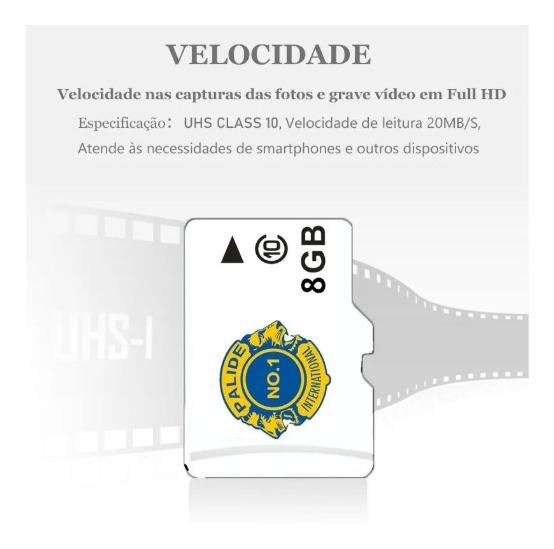 Kit 10 Cartão Micro Sd 8gb Tf Classe 10 Cartão De Memoria