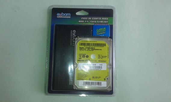 Case Com Hd Externo De 500 Gb Serve Pra Pc /play 2 3 /xboxv