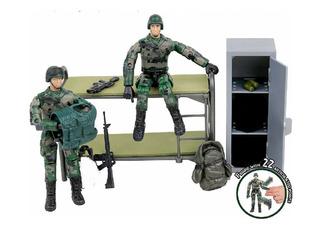 Set Diorama Base Militar Con Soldados Armas Escala Gi Joe