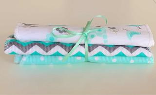 Babitas Pack X 3 Piqué Y Doble Toalla Ajuar Baby Shower