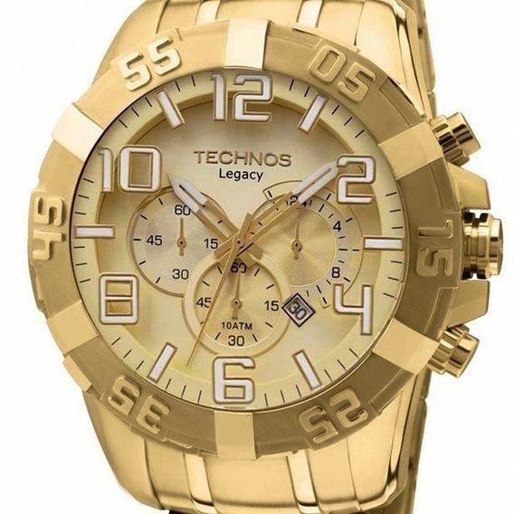 Relógio Technos Masculino Dourado Legacy Os20ik/4x Original