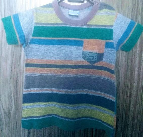 Camiseta Infantil Masculino Listrada Malwee