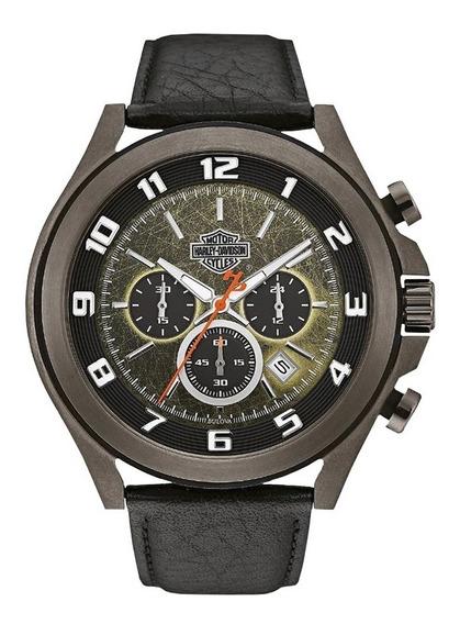 Reloj Harley Davidson Night Cronógrafo Fechador 78b149