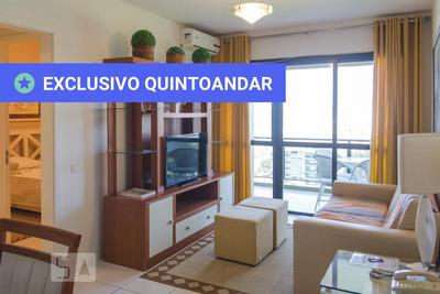 Apartamento No 12º Andar Mobiliado Com 1 Dormitório E 2 Garagens - Id: 892858221 - 158221