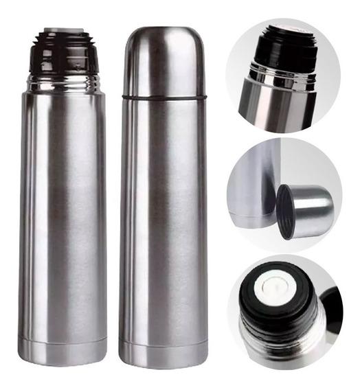 Termo Bala Acero Inox 1 Litro Doble Capa Termica Con Estuche