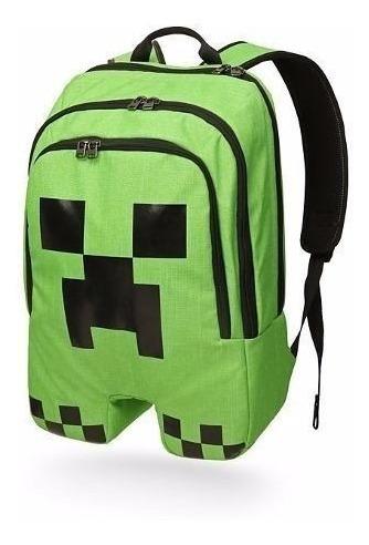 Mochila Minecraft Creeper Oficial - Original Pronta Entrega