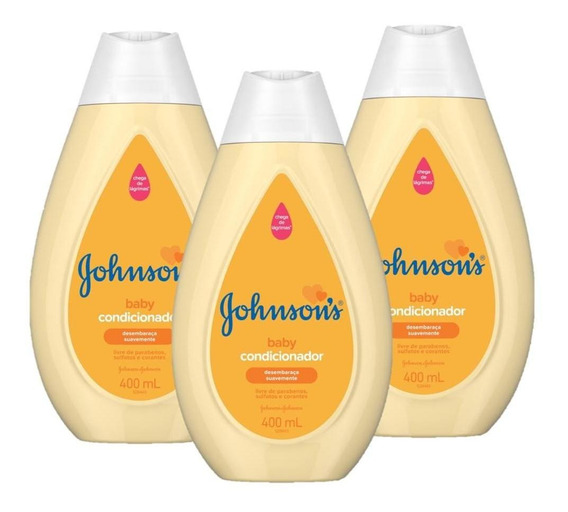 Kit 3 Condicionador Johnsons Baby Regular 400ml