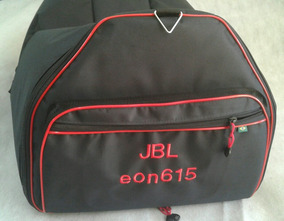 Bag Capa Caixa De Som Jbl Eon 615 Acolchoada Vermelho