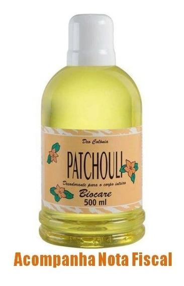Colônia Patchouli Original 500ml Biocare - Envio Imediato