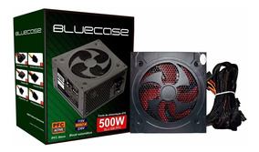 Fonte Atx 500 Watts Reais Bluecase 500w Real C/ Pfc Ativo!