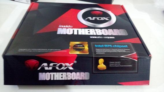 Kit 1155 Mb Placa Mae Afox Ib75 + Cpu Dual Core G2030 + Mem