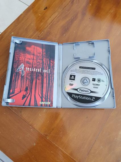 Ps2 Resident Evil 4 Platinum Europeu Original