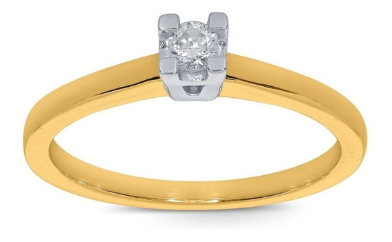 Anillo De Compromiso De Oro De 14 K Con Diamante Ghiberti