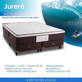 Colchon Jurere Pillow Topacio Resortes Poquet P 150 Kl 2x160