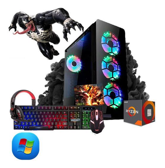 Pc Gamer Megatumi Amd Ryzen R3 3200g, 2x4gb, Hd 500gb, Kit G