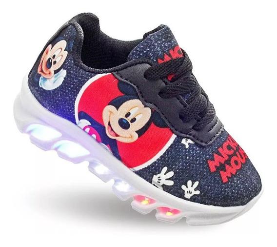 Tênis Led Mickey Infantil Disney