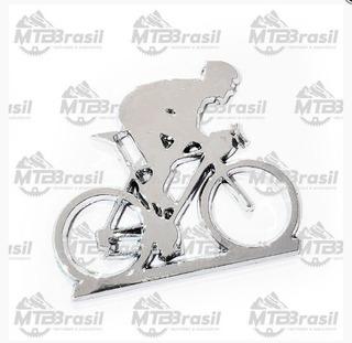 Adesivo Cromado Ciclista