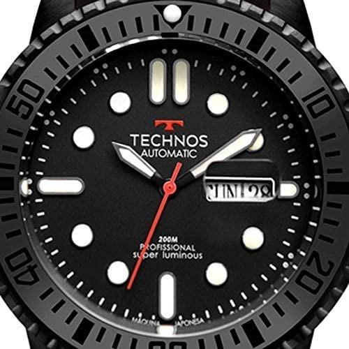 Relógio Technos Automático Calendário Borracha 8205oi/8p