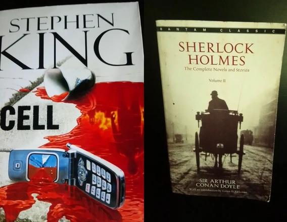 Combo Livros Em Inglês Sherlock Holmes E Stephen King - Cell