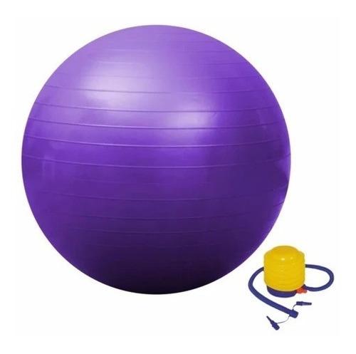 Pelota Balon Yoga 75 Cm Pilates +  Inflador Manual