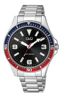 Reloj Q&q Hombre Coleccion De Lujo En Acero