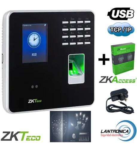 Imagen 1 de 9 de Reloj Control Horario Personal Biométrico Rfif Mb20 Zkteco