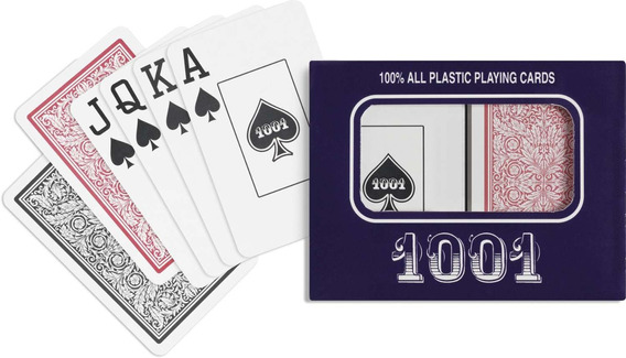 3 Baralho 1001 Plastico Naipe Grande Copag Est.c/02
