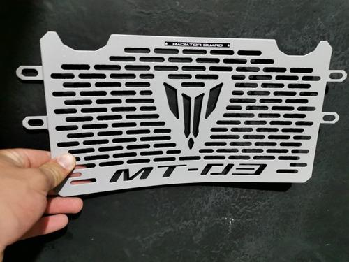 Protector De Radiador Yamaha Mt03 Gris Plata En Oferta