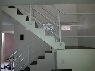 Corrimao Para Escada . Aluminio Kit 1 Metro Linear . Branco