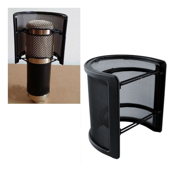 Mini Pop Filter Filtro Para Microfone Condensador Stúdio