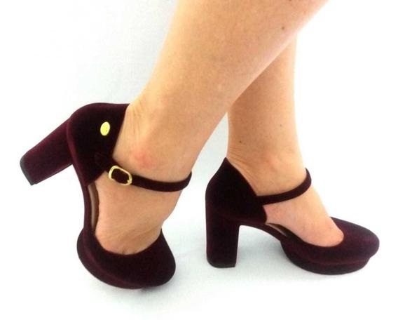 Sapato Boneca Salto Charmosa Chic