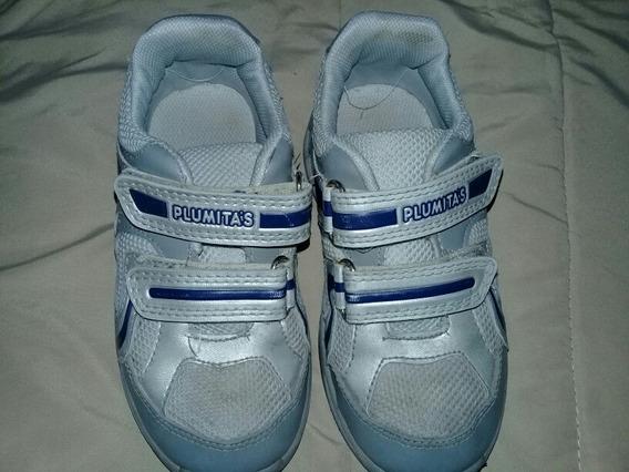 Zapatillas Plumitas N°27 De Cuero Y Lona Excelente Estado