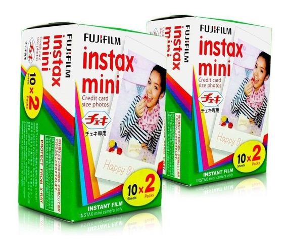 Fujifilm Instax Mini - Filme Com 40 Fotos - Pack Com 2 X 20