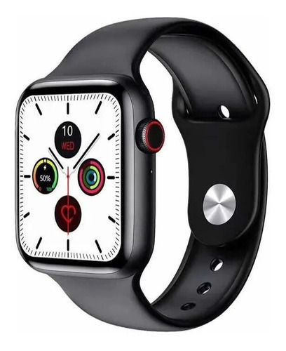 """Imagen 1 de 2 de Smartwatch Microwear W26 1.75"""" caja de  aleación de zinc  negra"""