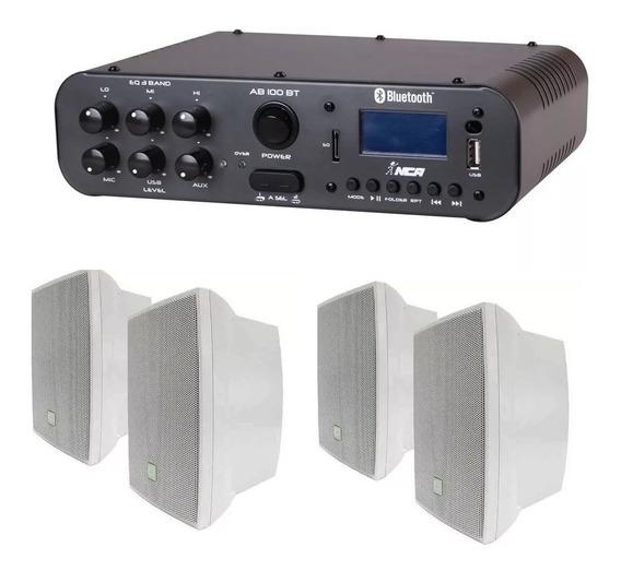 Som Ambiente Amplificador Ll Nca Sa10 + 4 Caixa Jbl C321b Br