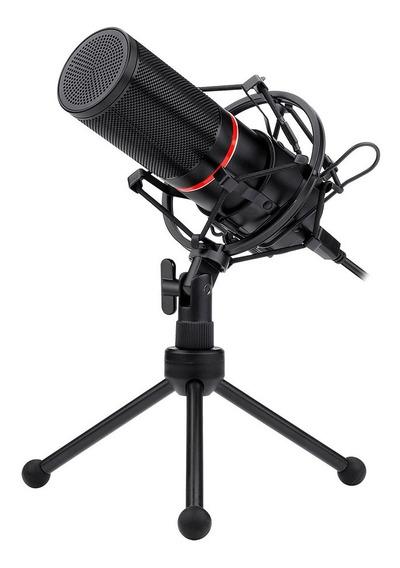 Microfone Gamer Redragon Streamer Blazar Usb C/ Tripé Gm300