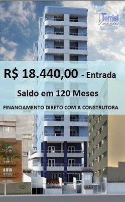 Apartamento Em Praia Grande,r$ 18.440,00 De Entrada. 01 Dormitório, Sacada Gourmet Com Lazer Completo No Caiçara Ap1648 - Ap1648