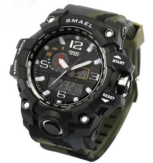 Relógio Militar Smael Analógico Digital Camuflado Promoção