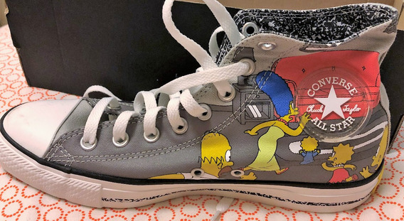 Tenis All Star Converse The Simpsons Edição Limitada Novo