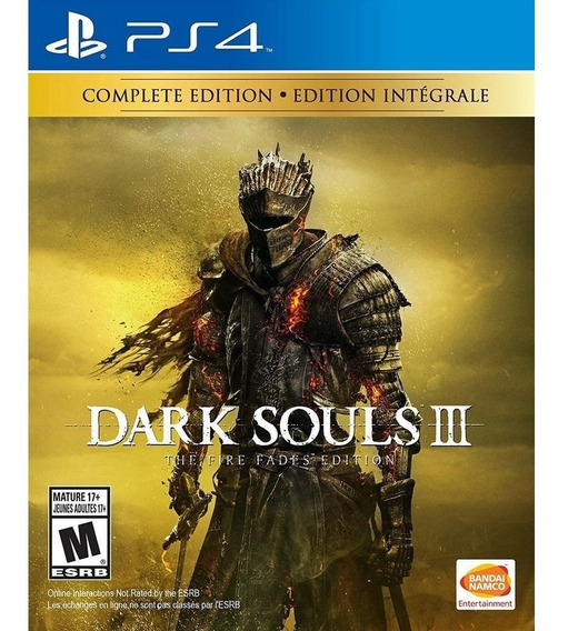Dark Souls 3 The Fire Fades Edition - Ps4 - Novo - Física