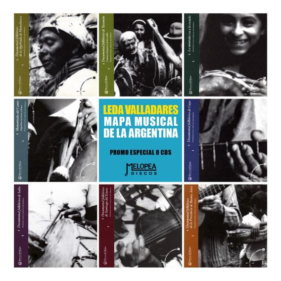 Leda Valladares - Mapa Musical De La Argentina (8 Cds)