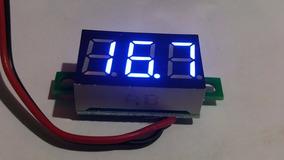 Voltímetro Digital Led Azul Com Medidor 4,5 A 30 V Dc