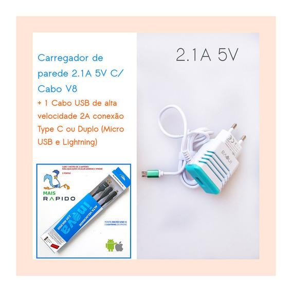 Kit C/4 Carregador Fonte Tablet Positivo Ypy Mini Usb V8 5v