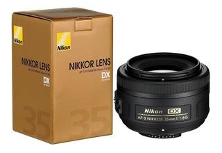 Lente Nikon Af-s 35mm F/1.8g 1.8 G Gtia Parasol Funda Cuotas
