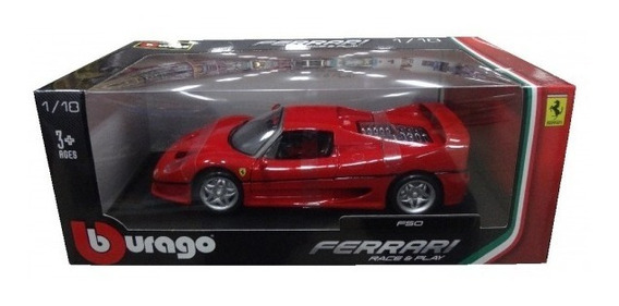 Miniatura De Ferrari F50, Race E Play, Na Escala 1:18.