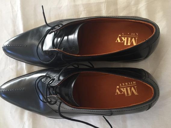 Zapatos De Vestir De Hombre Mky Mickey Negros