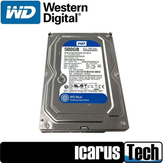 Disco Duro Pc 500gb Sata 3.5 Western Digital 7200 Rpm