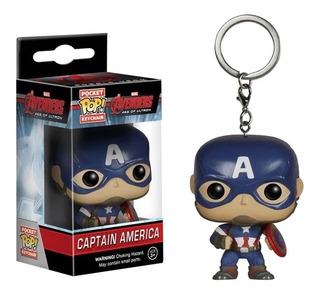 Capitán América Llavero Funko Pop