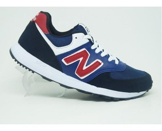 Tênis New Balance 574 Azul Marinho E Vermelho